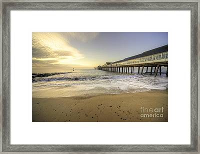Southwold Pier  Framed Print by Rob Hawkins
