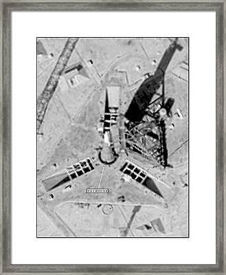 Soviet Missile Test Site Framed Print by National Reconnaissance Office