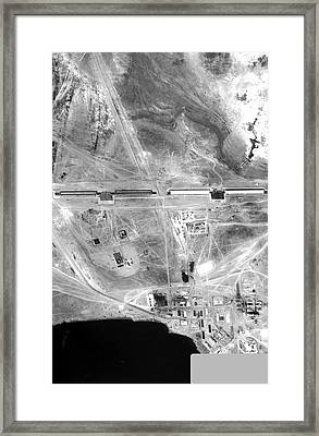 Soviet Space Radar Facility Framed Print by National Reconnaissance Office