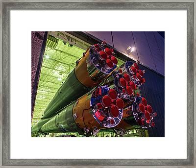 Soyuz Tma-16m Launch Preparation Framed Print by Nasa/bill Ingalls