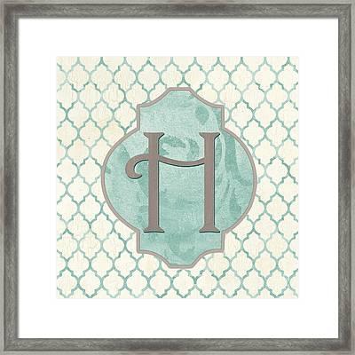 Spa Monogram Framed Print by Debbie DeWitt