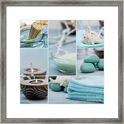 Spa Purity Collage Framed Print by Mythja  Photography