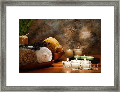 Spa Treatment Framed Print by Olivier Le Queinec