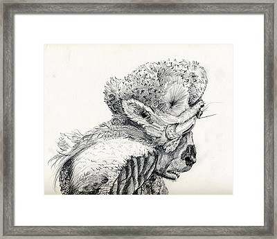 Space Alien Framed Print by Whistler Kenworthy