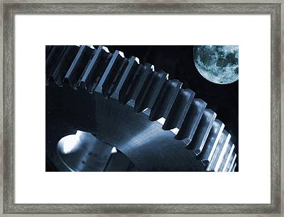 Space And Engineering Concept Framed Print by Christian Lagereek