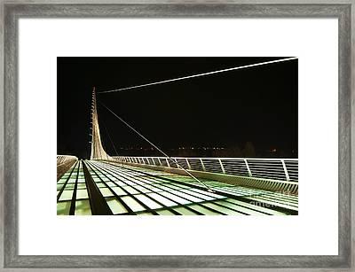 Space Bridge - The Unique Sundial Bridge In Redding California. Framed Print by Jamie Pham