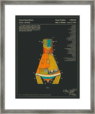 Space Capsule Framed Print by Jazzberry Blue