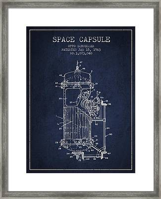 Space Capsule Patent From 1963 Framed Print by Aged Pixel
