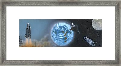 Space Framed Print by David Zimmerman