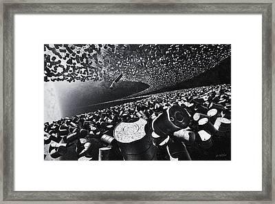 Space Debris Framed Print by Vitaliy Gladkiy