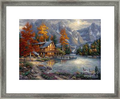 Space For Reflection Framed Print by Chuck Pinson