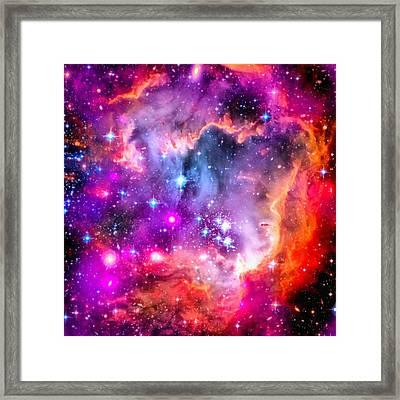 Space Image Small Magellanic Cloud Smc Galaxy Framed Print by Matthias Hauser