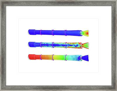 Space Launch System Simulations Framed Print by Nasa/marshall (h. Q. Yang, Jeff West)