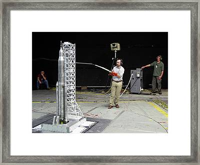 Space Launch System Testing Framed Print by Nasa