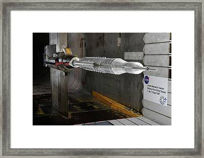Space Launch System Testing Framed Print by Nasa/arc/dominic Hart