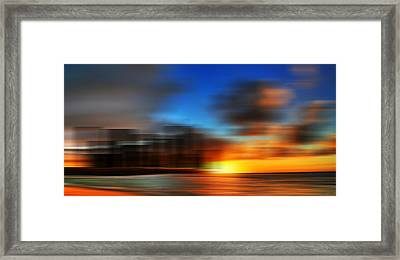 Space  Living On Planet Pluto 2190 In The Future Framed Print by Sir Josef Social Critic - ART