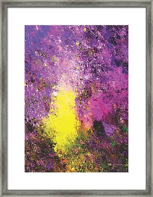 Space Out Framed Print by Jessie J De La Portillo