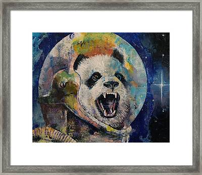 Space Panda Framed Print by Michael Creese