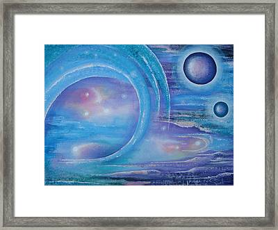 Space Paradise Framed Print by Krystyna Spink