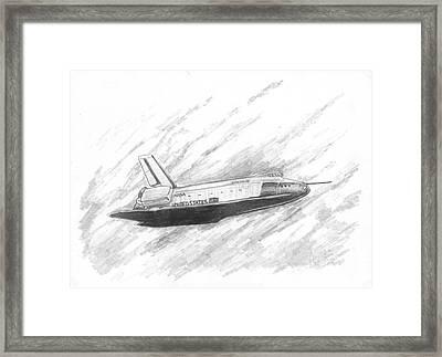 Space Shuttle Enterprise Framed Print by Michael Penny