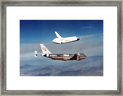 Space Shuttle Prototype Testing Framed Print by Nasa