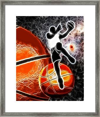 Space Slam  Framed Print by David G Paul