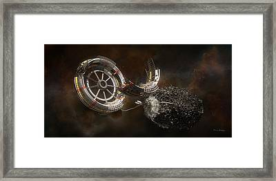 Space Station Construction Framed Print by Bryan Versteeg