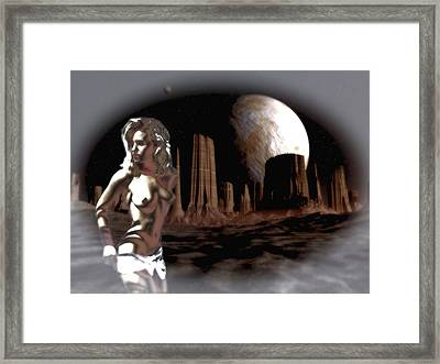Space Stripper Framed Print by Mario Carini