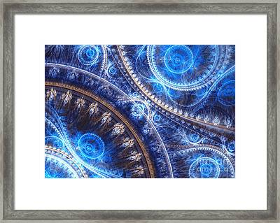 Space-time Mesh Framed Print by Martin Capek