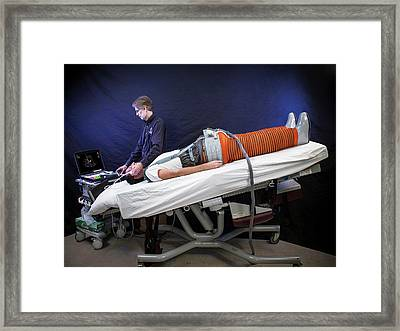 Space Travel Fluid Shift Research Framed Print by Nasa/jsc/james Blair