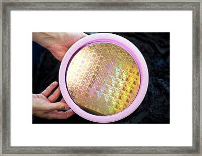 Spacecraft Microchips Framed Print by Esa-guus Schoonewille