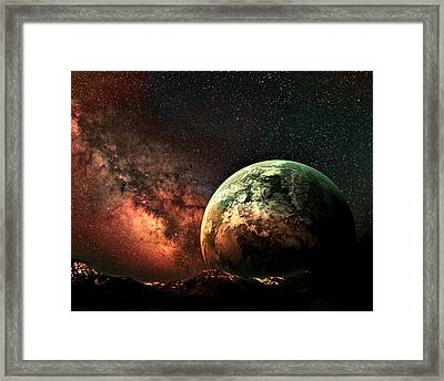 Spaced Out Framed Print by Ally  White