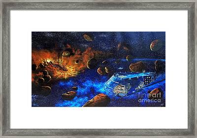 Spaceship Titanic Framed Print by Murphy Elliott