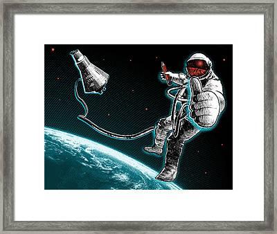 Spacewalk Good To Go Framed Print by Vanessa Bates
