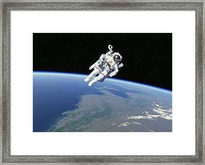 Spacewalk Framed Print by Science Photo Library