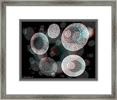 Spacial Rift - View With Or Without Red-cyan 3d Glasses Framed Print by Brian Wallace