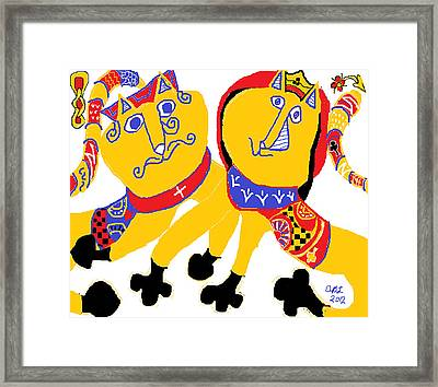 Spades And Clubs Framed Print by Anita Dale Livaditis