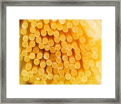 Spaghetti Macro Framed Print by Mythja  Photography