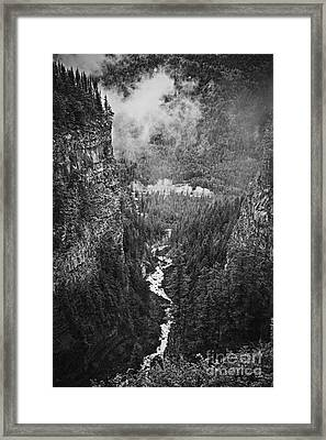 Spahats Creek Canyon In Wells Gray Provincial Park Framed Print by Elena Elisseeva