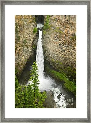 Spahats Falls Waterfall In Wells Gray Provincial Park Framed Print by Elena Elisseeva