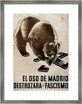 Spain. Civil War 1936-1939. El Oso De Framed Print by Everett