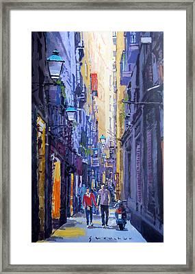 Spain Series 10 Barcelona Framed Print by Yuriy Shevchuk