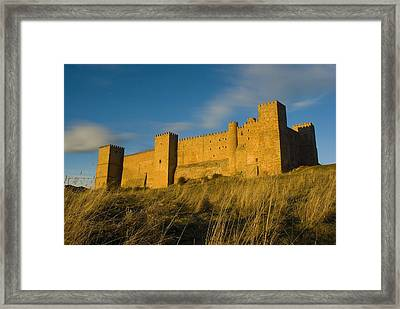 Spain. Sig�enza. The Medieval Castle Framed Print by Everett