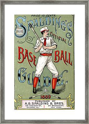 Spalding Baseball Ad 1189 Framed Print by Unknown