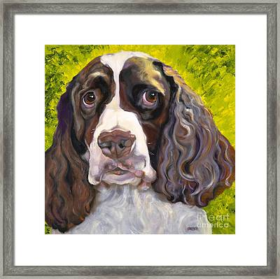 Spaniel The Eyes Have It Framed Print by Susan A Becker