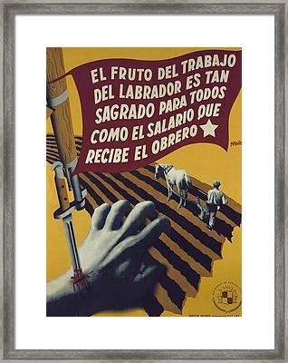 Spanish Civil War 1936-1939. El Fruto Framed Print by Everett