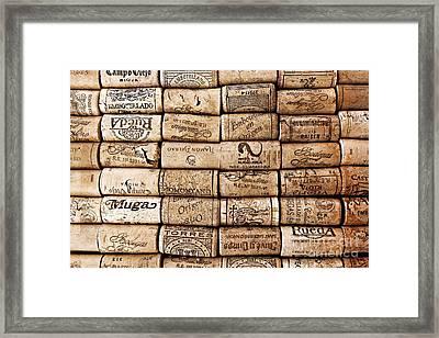 Spanish Corks Framed Print by Clare Bevan