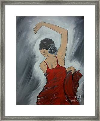 Spanish Flamenco Framed Print by Collin A Clarke