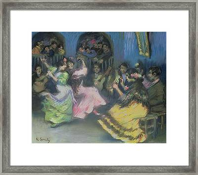 Spanish Gypsy Dancers, 1898 Framed Print by Ricardo Canals y Llambi