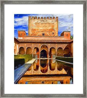 Spanish Reflections Framed Print by Cary Shapiro